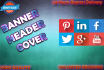 make amazing social media,cover,header,banner,web banner,header design
