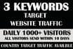 drive keyword target USA,website,traffic,visitors