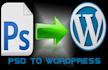 design, fix errors and convert PSD to wordpress