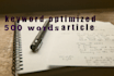 write a well researched article of 500 to 1000 words