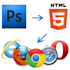 convert psd to html and correct html and css responsive