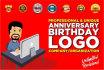 create Unique Anniversary Logo Of Your Company