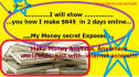 show you how I make 645 dollars in 2 days online