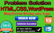 fix html,css,wordpress issue within 24 hours