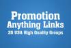 promote your link, book, ads, website, video on social media groups