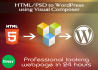 design a professional webpage using Visual Composer