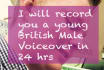 record a script upto 180 words in 24hrs in a young voice