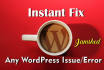 fix WordPress issue or errors