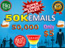 provide you 50000 active and valid email list only five dollars