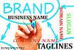 brainstorm BUSINESS Name, Brand Name, Company Name