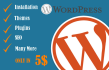 install wordpress and fix wordpress issues within 24 hr