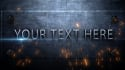 create this amazing effect of text hitting then welding onto metal wall