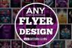 do catchy FLYER design , Poster , Leaflet , Postcard , Brochure