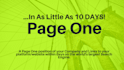 get you a page one position within ten days