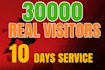 drive total 30k usa based website,vistors in 10 days