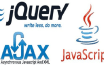 write javascript ajax jquery code for validation