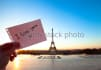 take photo or video in Paris, in front Eiffel Tower or anywr