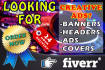 2 design a Professional web banner,header,ad,cover