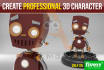 create professional 3d character