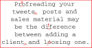 proofread and edit documents of up to 1000 words