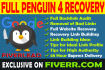 provide full Penguin 4 Recovery and Link Building for reRank
