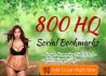 create High PR 800 Seo social bookmarking backlinks for you
