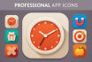 create a professional mobile app icon and logo within ONE day