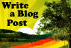 write an article or listicle for your blog