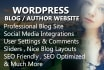make professional Blog in WordPress