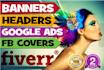 design web banner, facebook banner