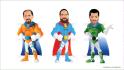 do SUPERHERO cartoon characters