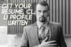 write your Resume, Cover Letter, LinkedIn Profile