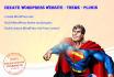 create or build WordPress website site  theme plugin