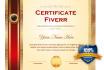 design a Elegant Certificate Anniversary or  Award