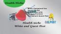 write and guest post a health niche seo optimised PR2 DA 70