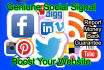 build Natural 2222 Social Signals to Boost your website