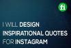 design 5 Inspirational Quotes for Instagram