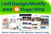 design or modify your blogger blog template
