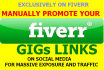 promote your Fiverr gig links in 40 Facebook groups