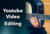 edit your video for Youtube
