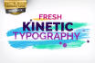 create this Kinetic Typography
