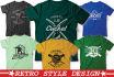 make Retro style tshirt design