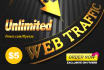 send unlimited organic and social media web trafic