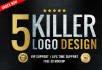 do 5 business logo Design