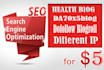 give you health blog DA70 dofollow blogroll different IP