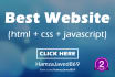 create website with html css and javascript