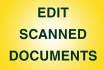edit modify any scanned document