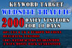 send keyword targeted website traffic for 30 days
