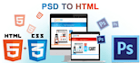 convert PSD to Responsive web pages