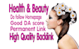give you permanent link blogroll website 5x Beauty HEALTH
